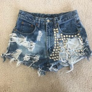 Urban outfitters studded shorts